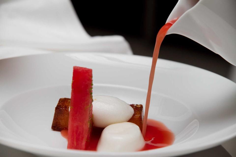 mousse con zuppetta anguria