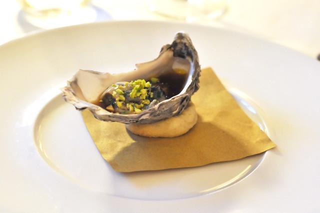 ostrica-fois-gras-pistacchio