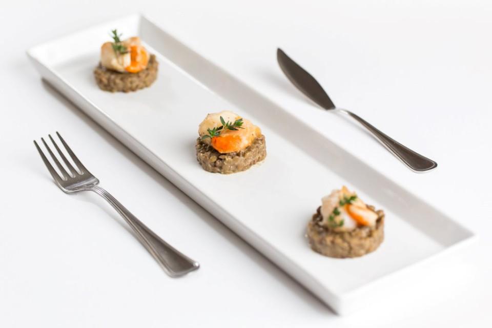 capesante con lenticchie Castelluccio