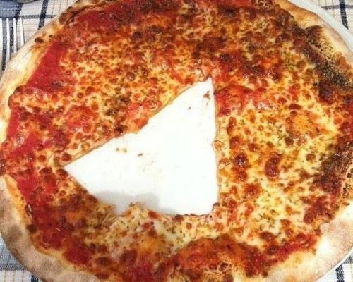 triangolo nella  pizza