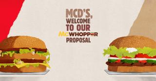 Hamburger. McWhopper, segno di pace tra McDonald's e Burger King
