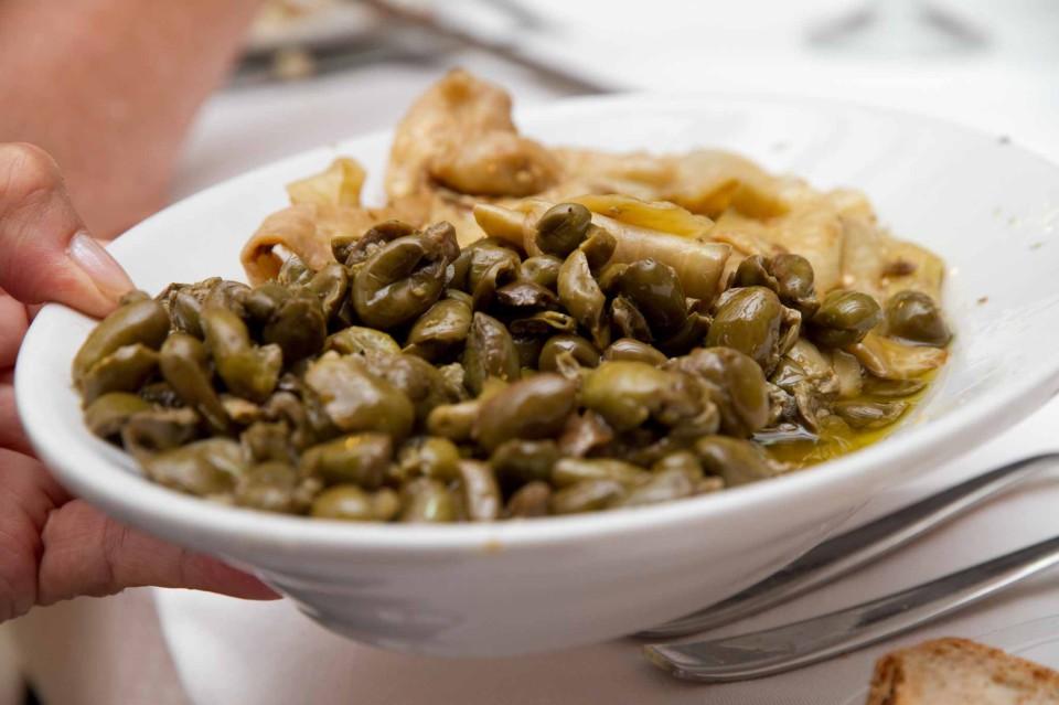olive ammaccate piatto