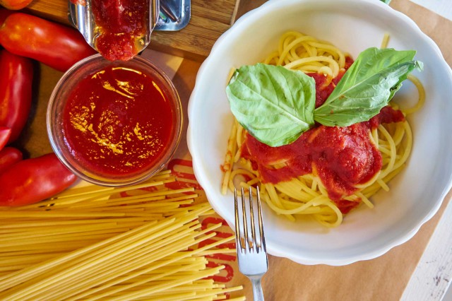 spaghetto a due San Marzano