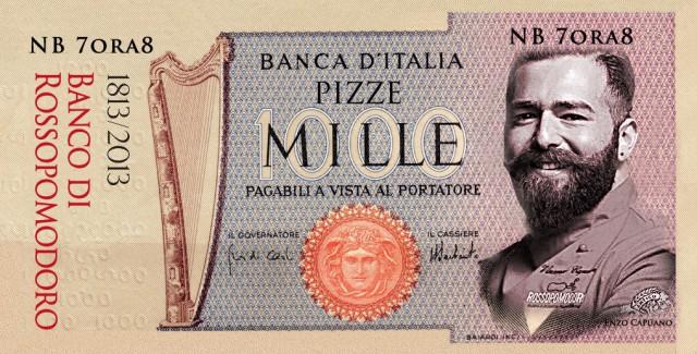 banconota pizza mile lire Vincenzo Capuano