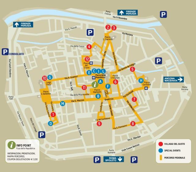 mappa Primi d'Italia Foligno