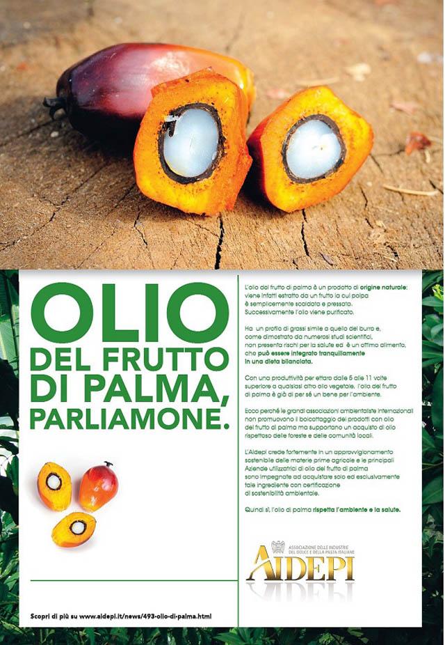 olio di palma pagina pubblicitaria