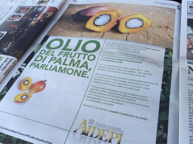 pubblicità Olio di Palma