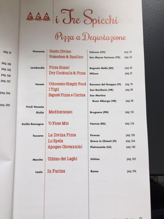 tre spicchi pizza a degustazione