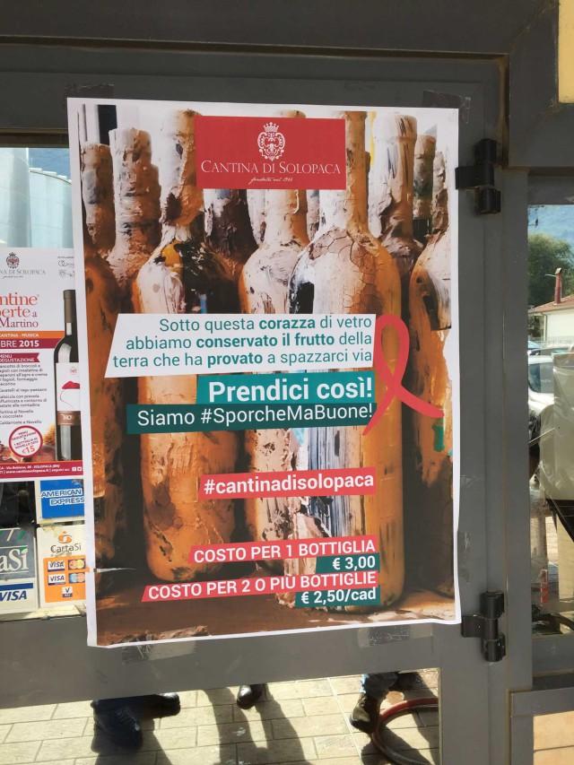 campagna per comprare vino del Sannio finito nel fango