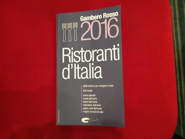 guida Gambero Rosso ristoranti 2016