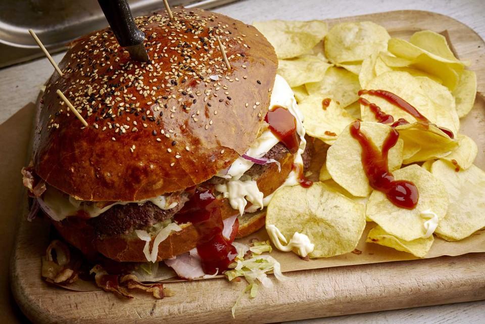 hamburger mostruoso halloween 1 chilo
