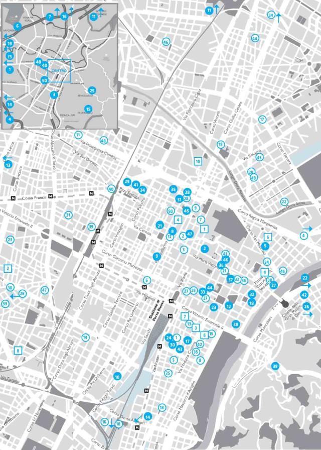 mappa migliori ristoranti Torino