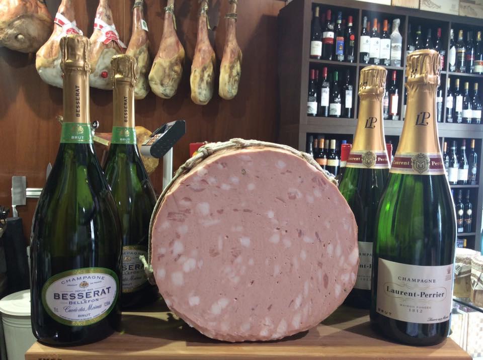 mortadella e champagne