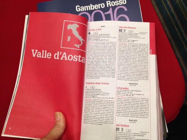 regioni ristoranti guida Gambero Rosso 2016
