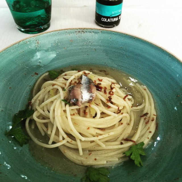 spaghetti bottarga colatura alici