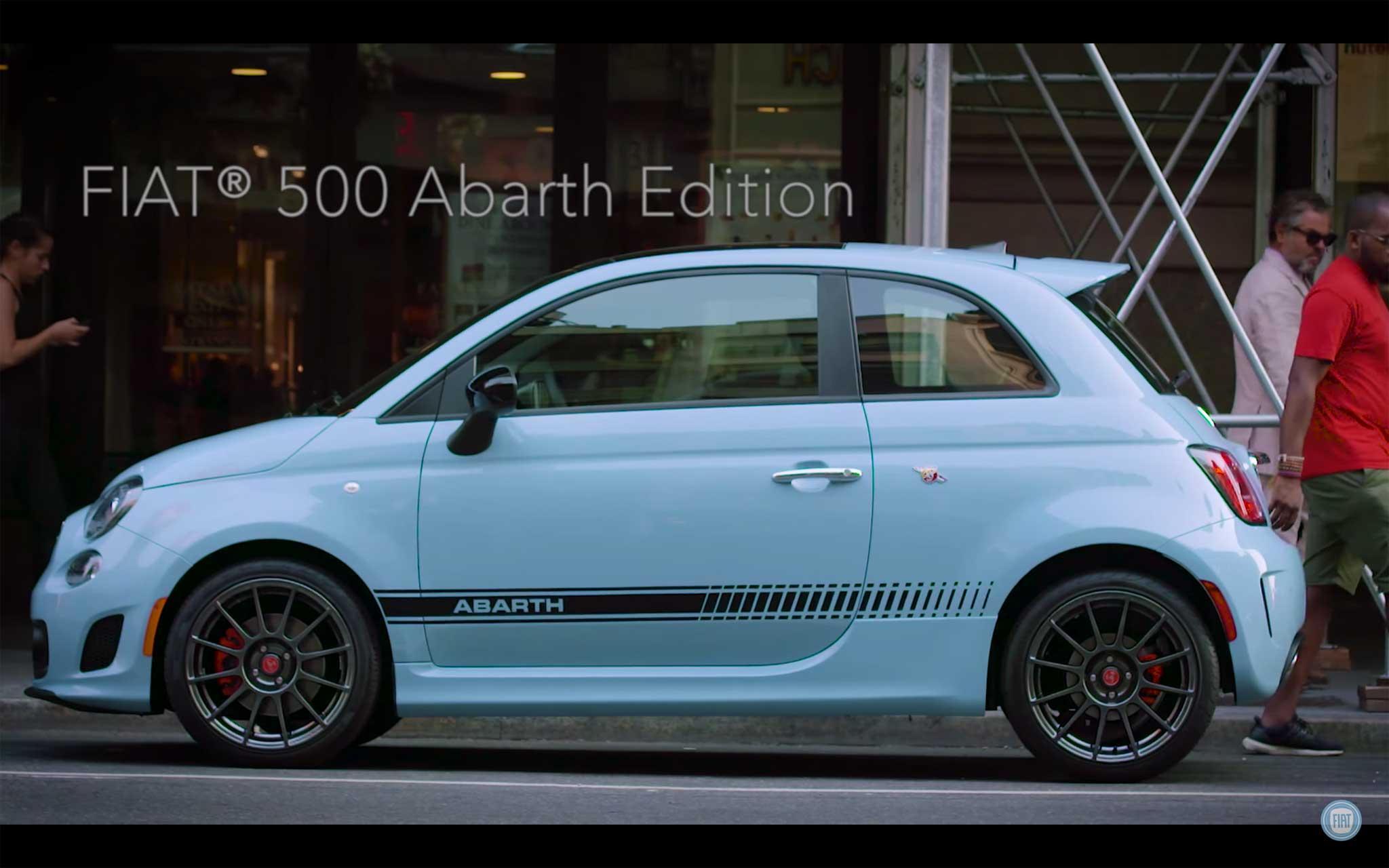500 Abarth azzurra