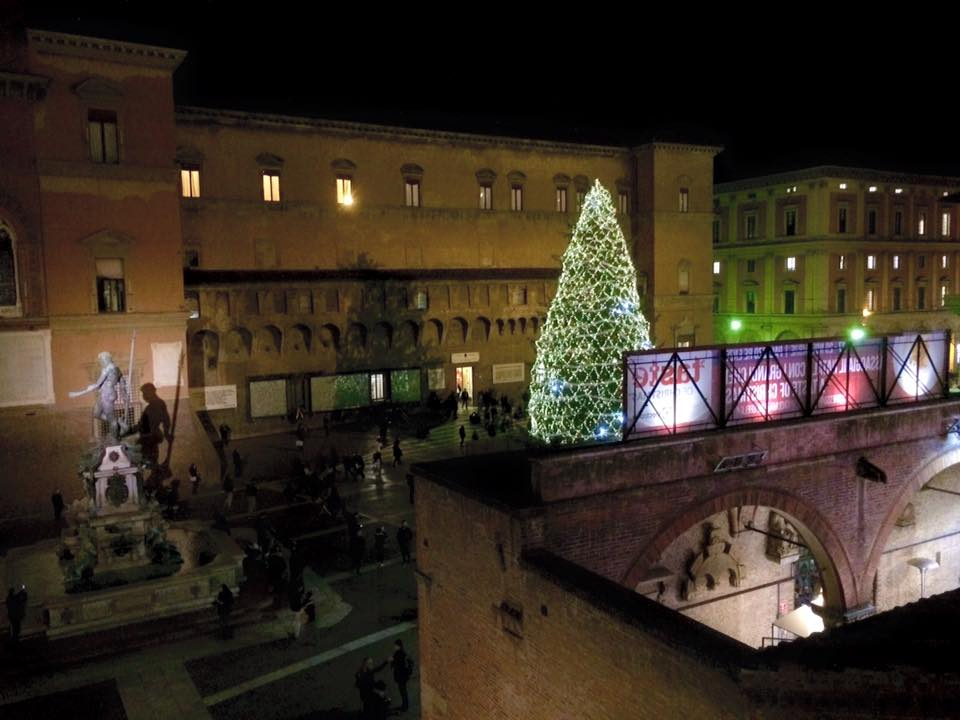 Bologna Palazzo Re Enzo albero Natale