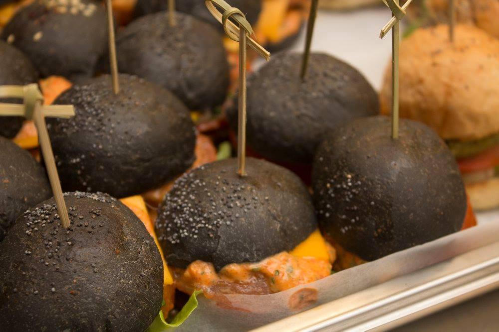 hamburger nero vegetariano
