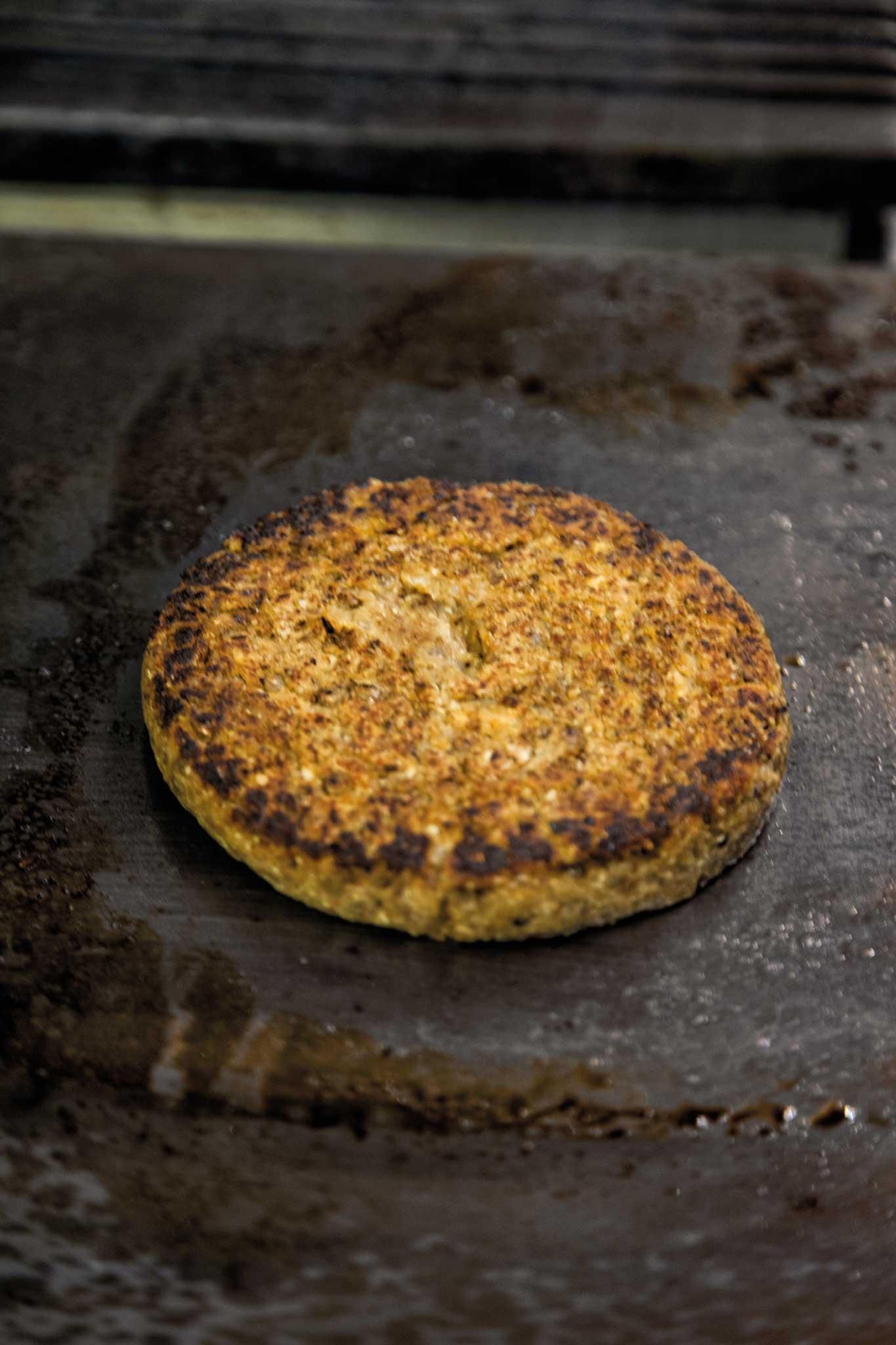 hamburger vegano cottura
