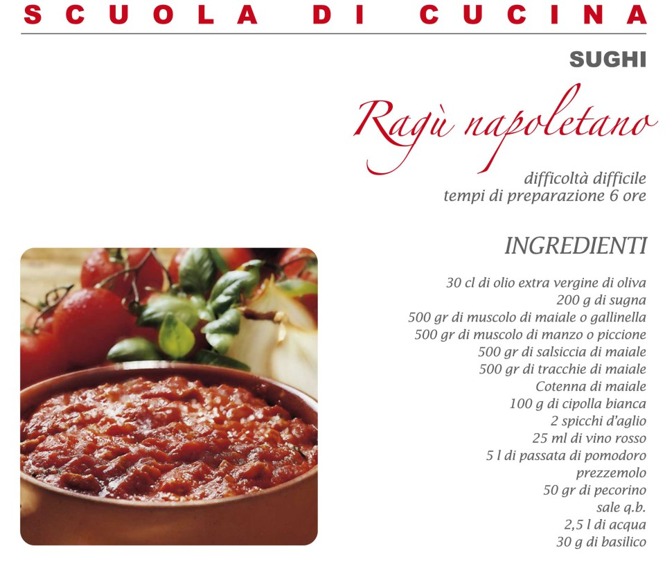 ingredienti ricetta ragù napoletano