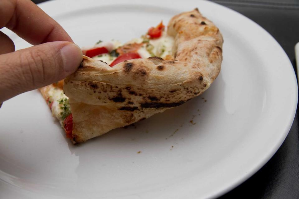 pizza ricci di mare cottura