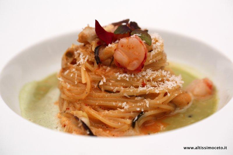 spaghettini all'acqua marina
