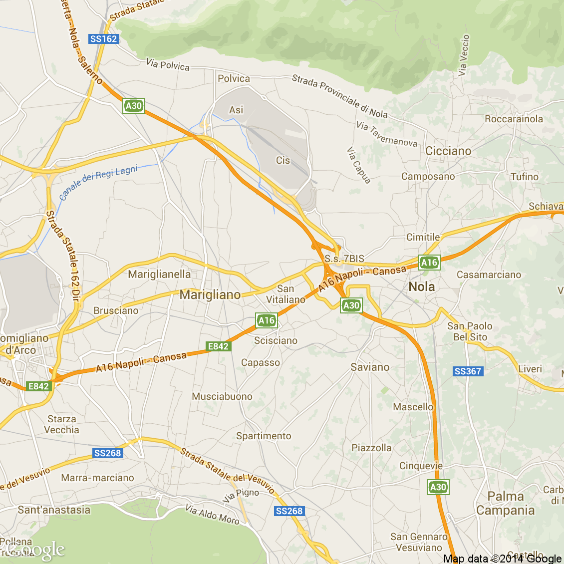 mappa San Vitaliano