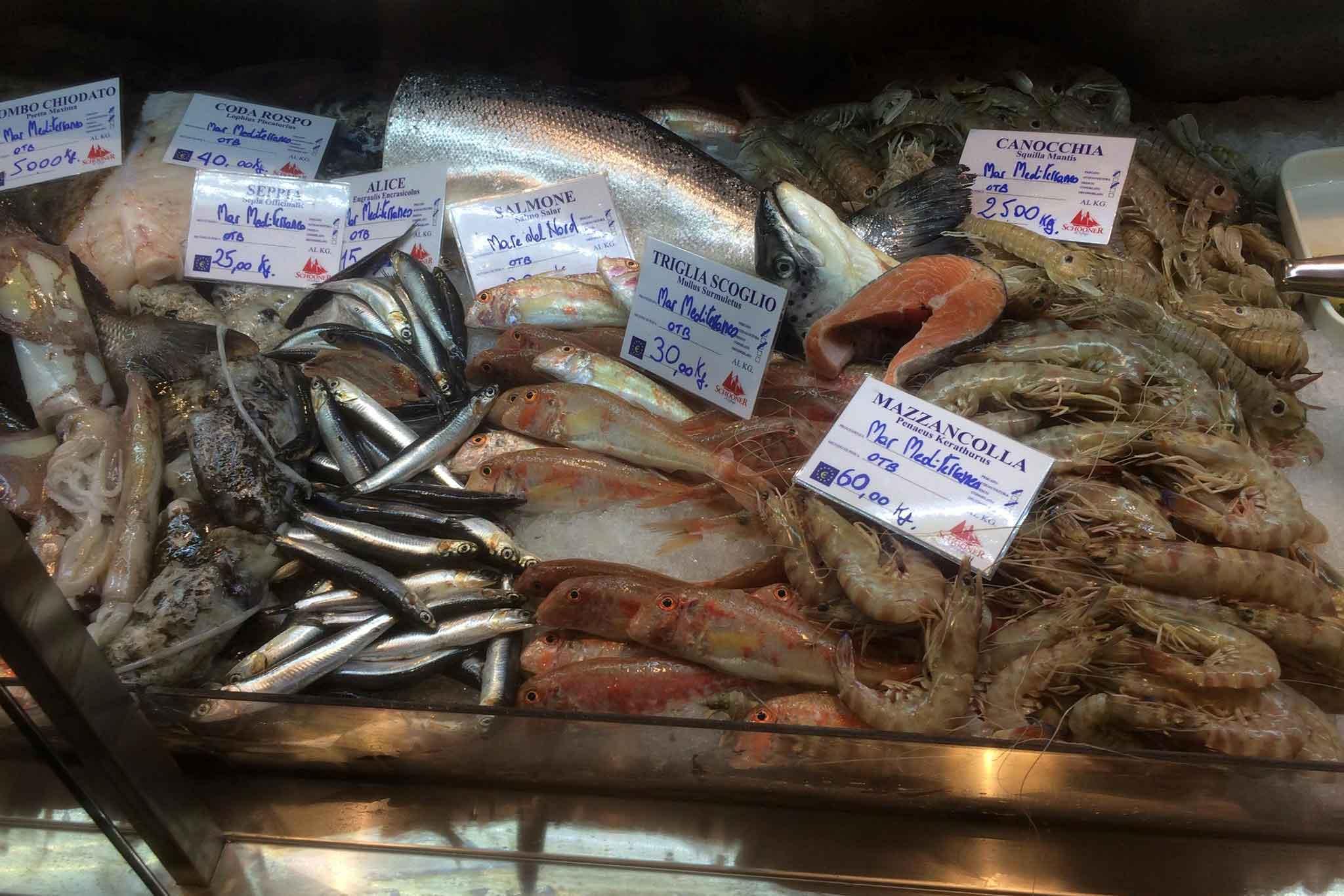 pescheria Mercato del Suffragio Milano