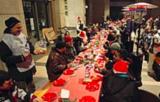 Il cenone di Natale con Sadler, Aimo e Nadia, Tano, Liberty, Alice a Milano