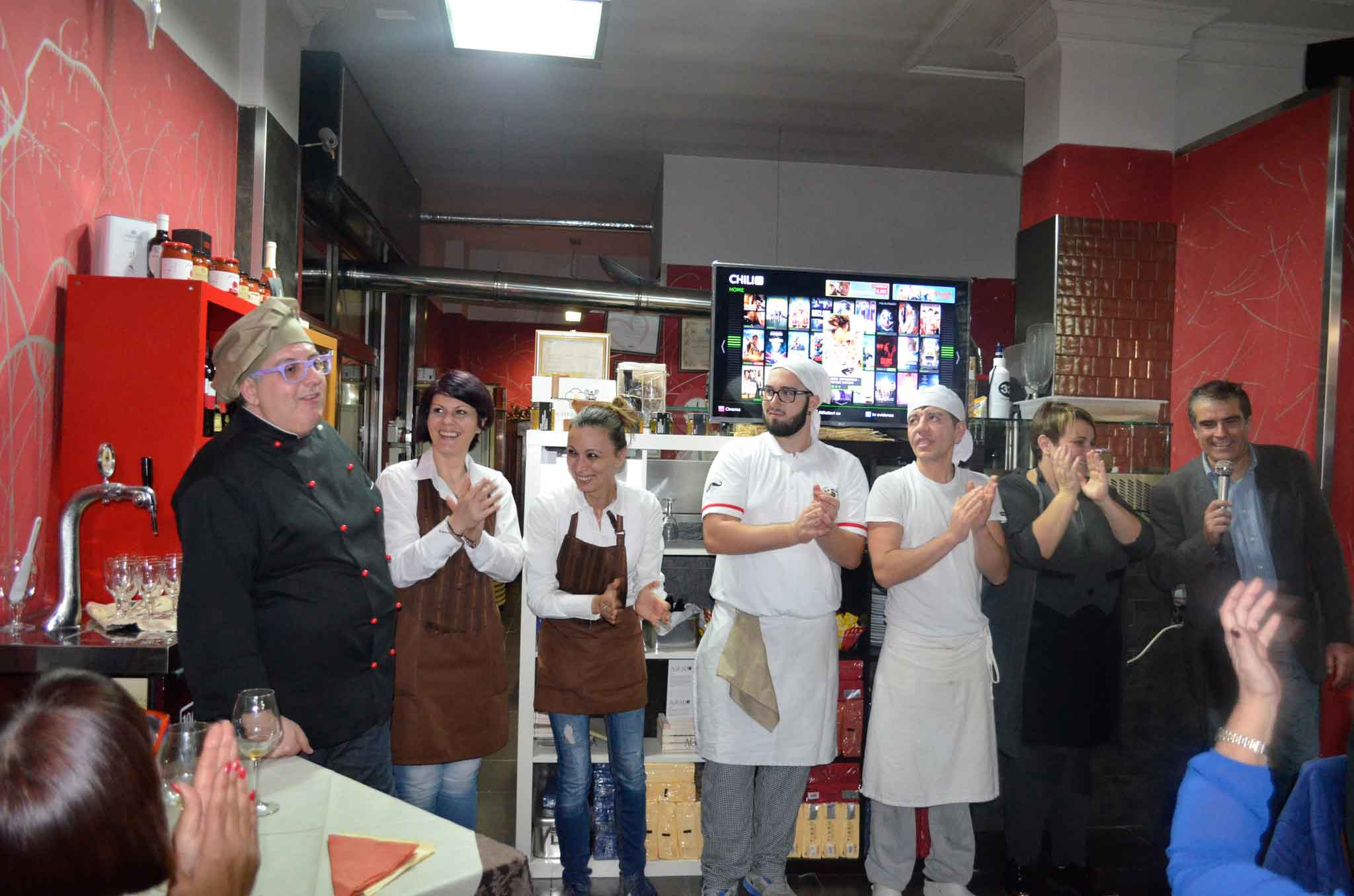pizzaiolo Vito de Vita e staff