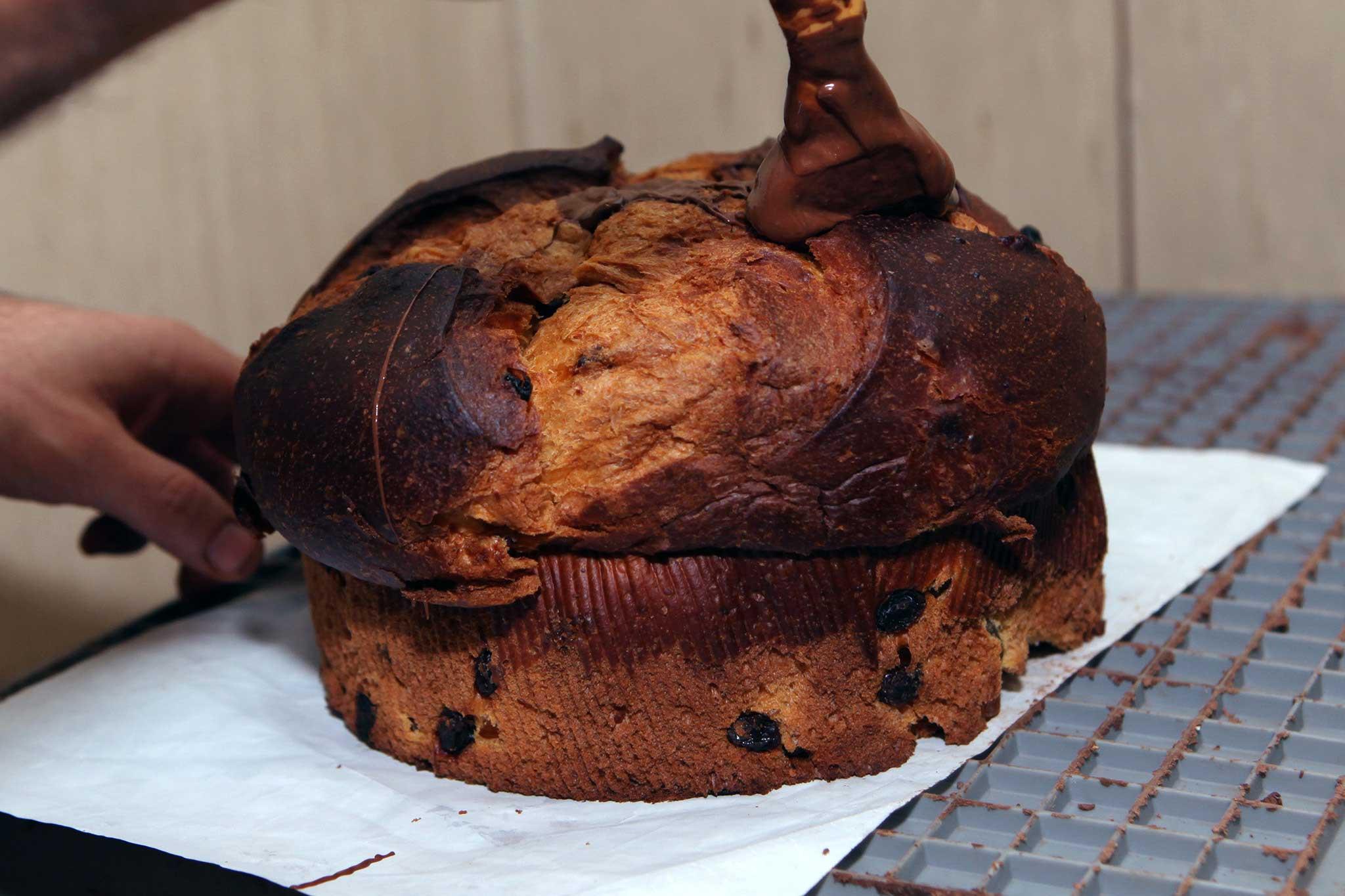 preparazione panettone cioccolato 1
