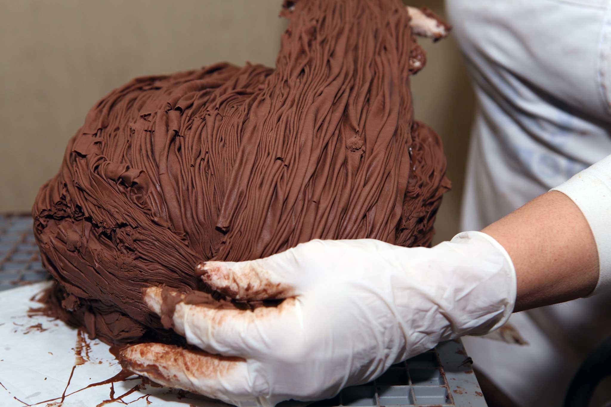 preparazione panettone cioccolato 10