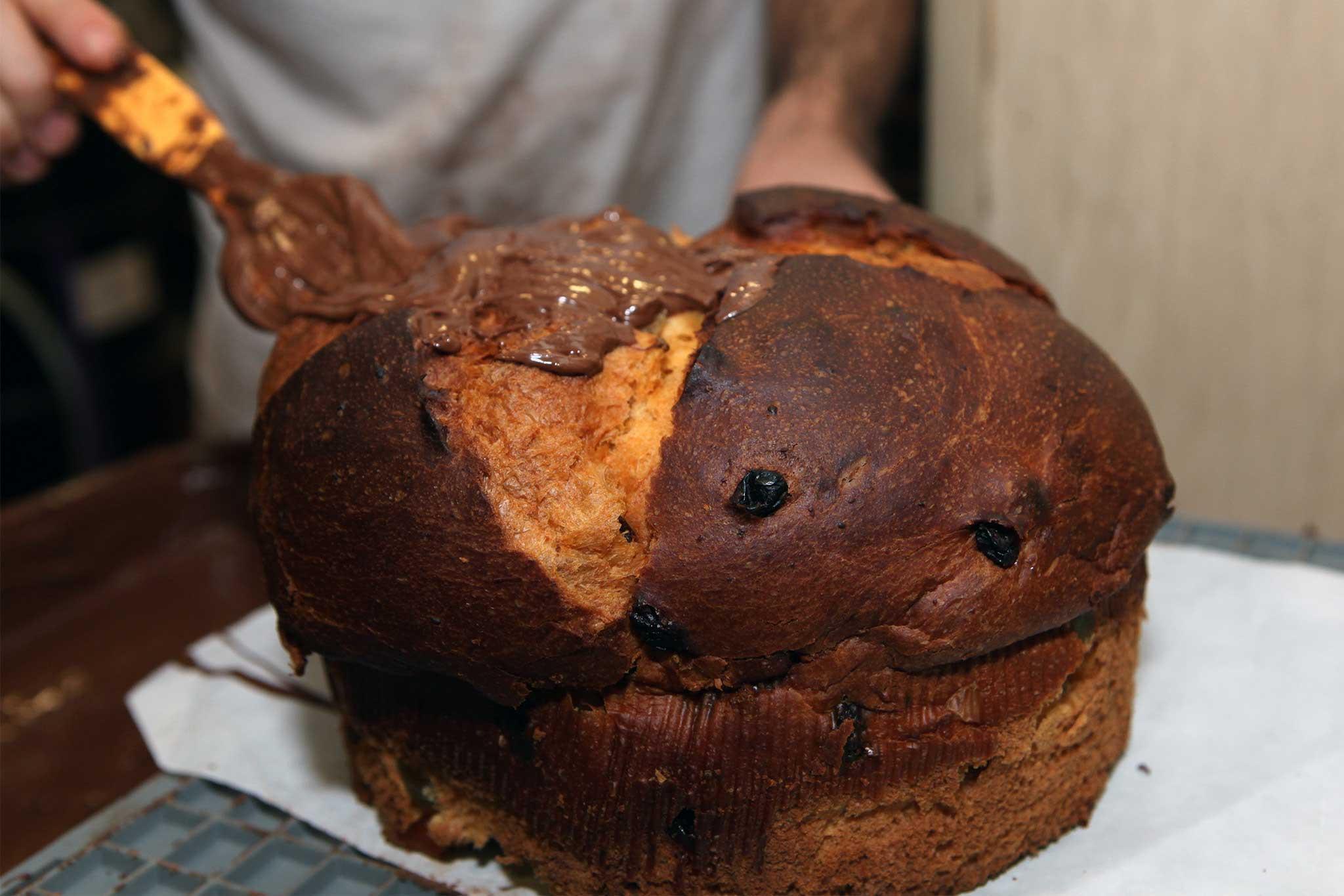preparazione panettone cioccolato 2