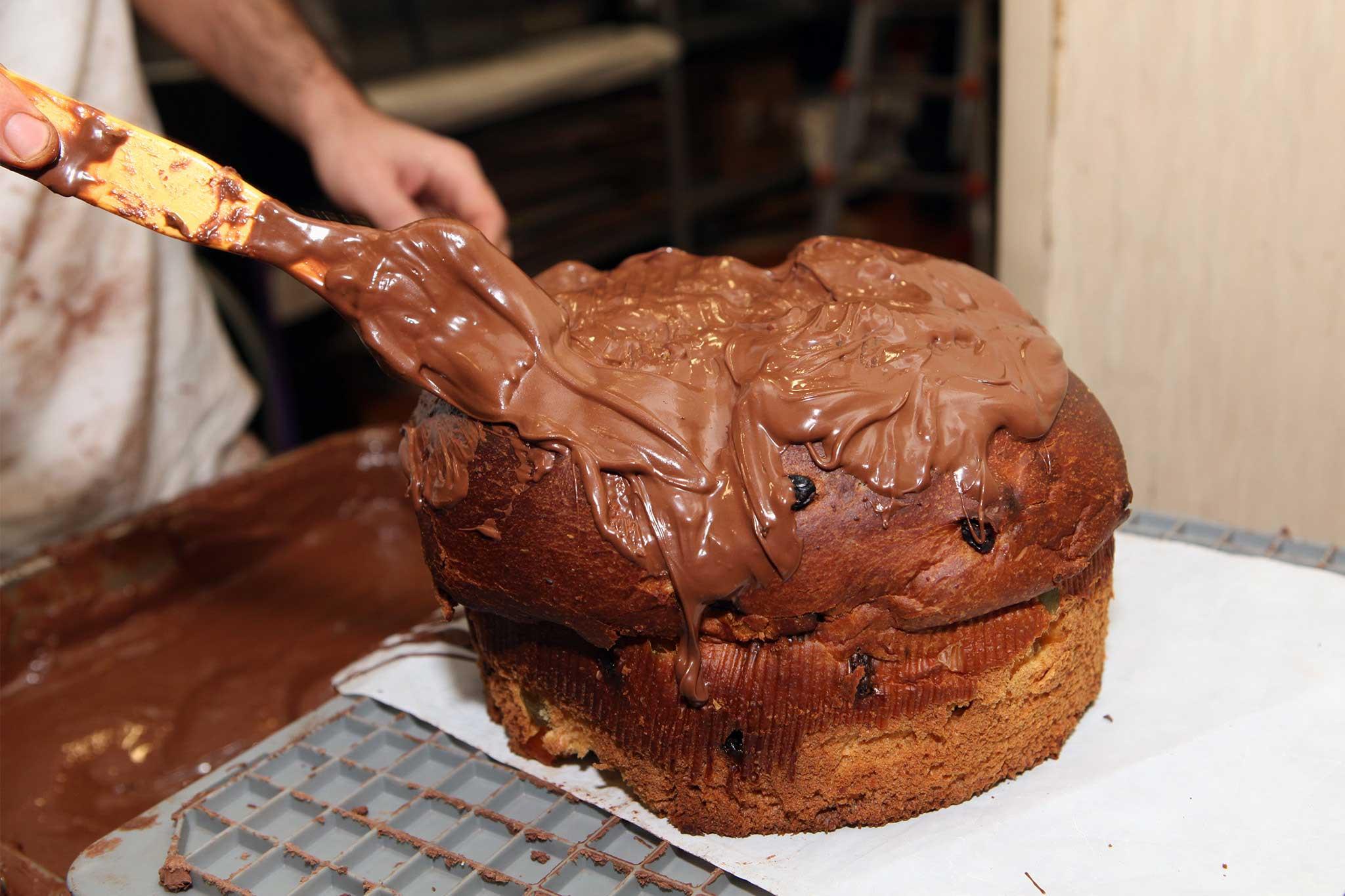 preparazione panettone cioccolato 5
