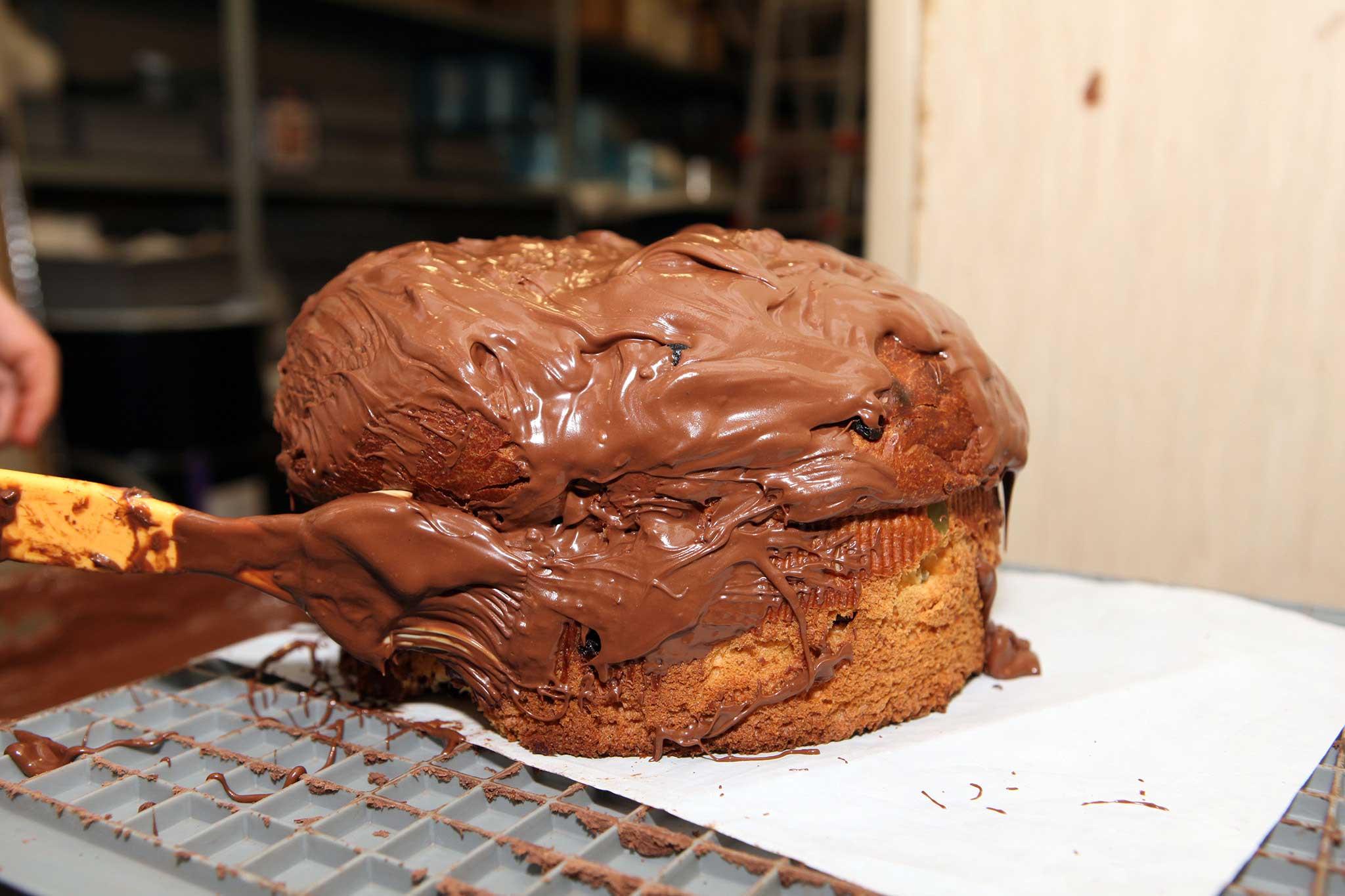 preparazione panettone cioccolato 7