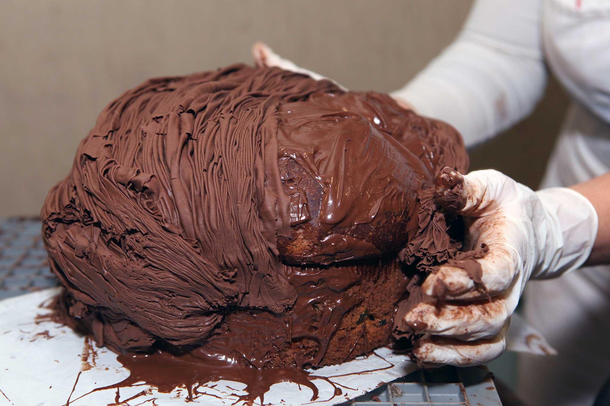 preparazione panettone cioccolato 9