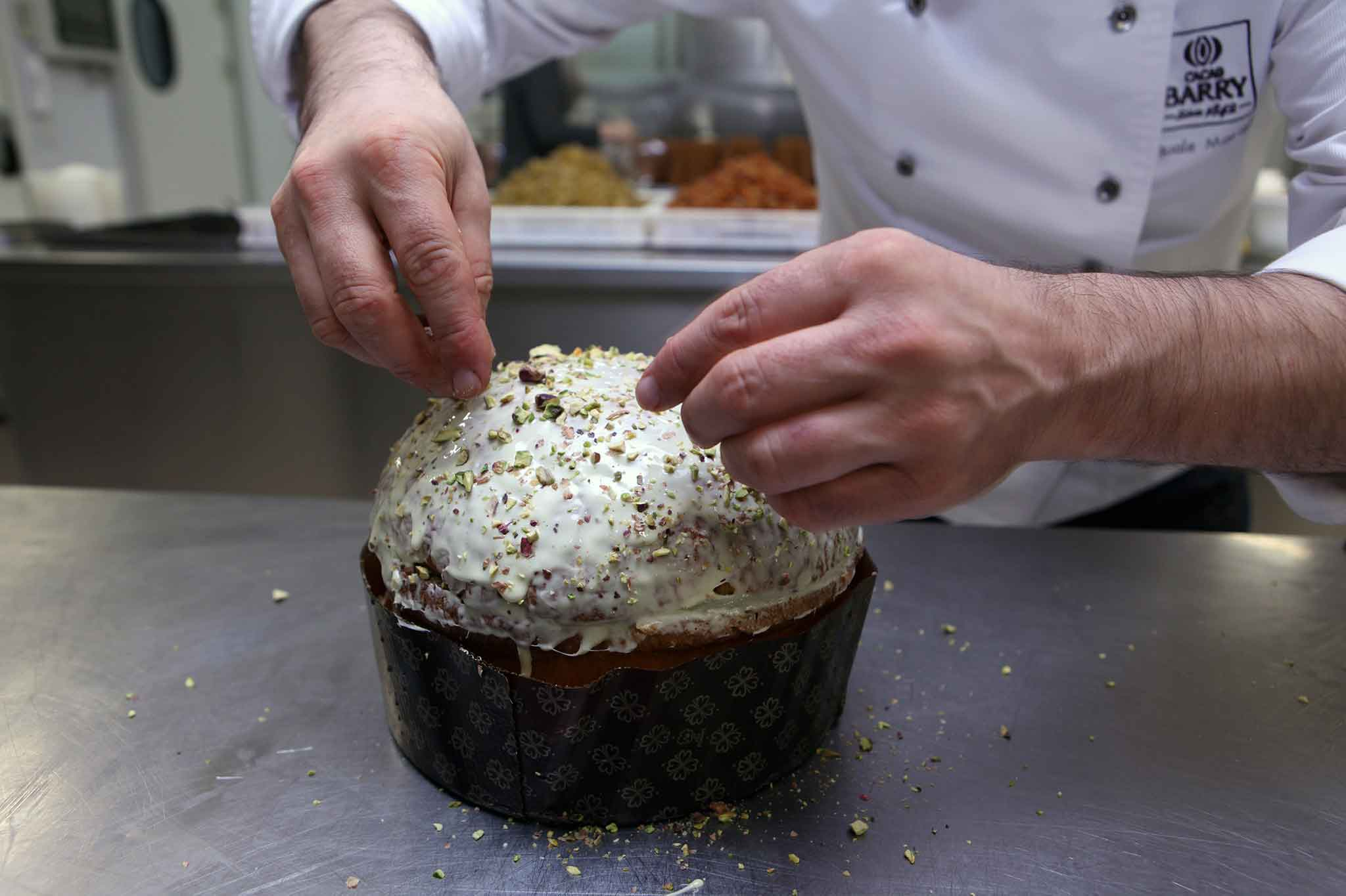 preparazione panettone pistacchio 6