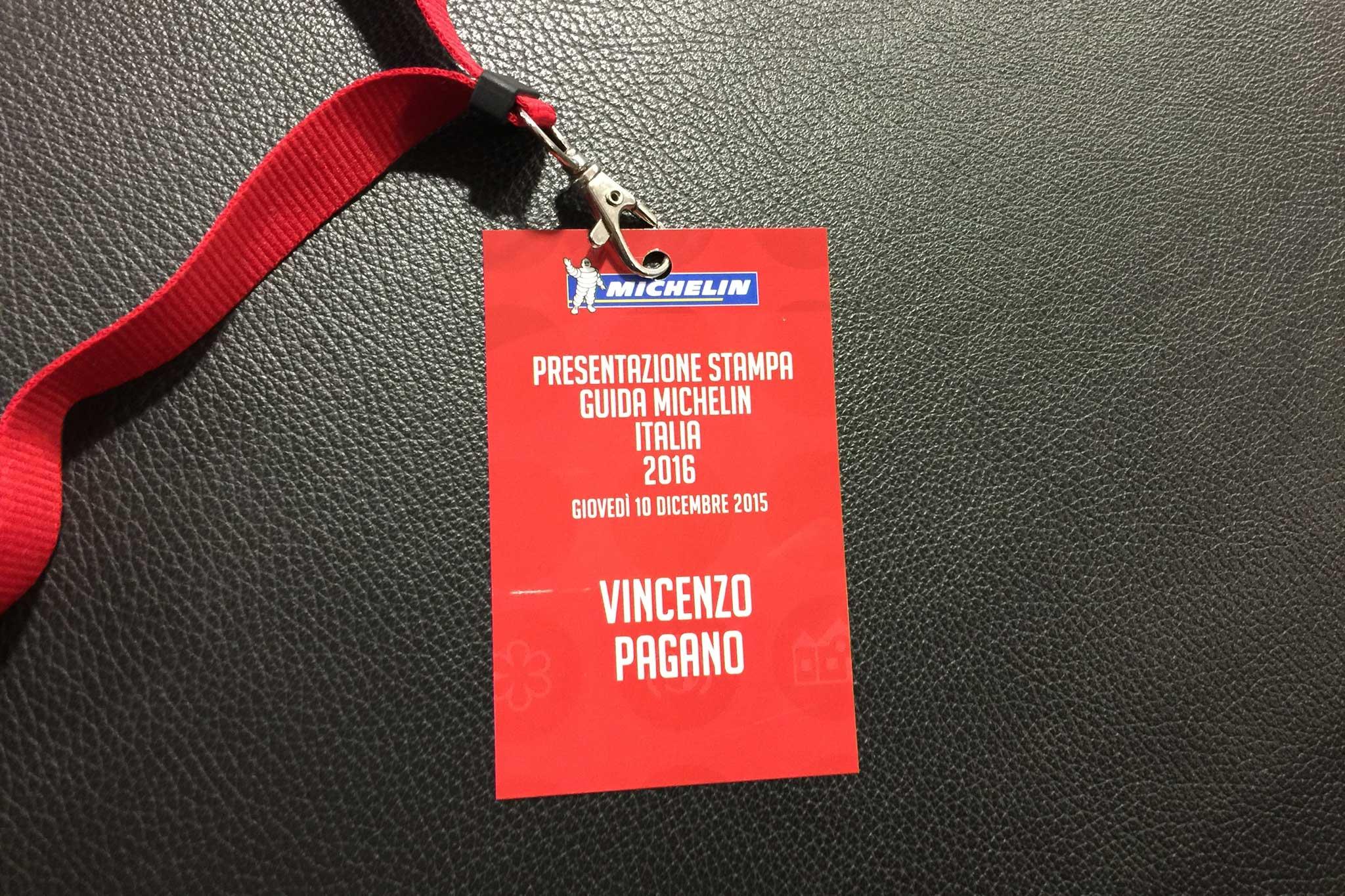 presentazione stelle Michelin 2016 Vincenzo Pagano