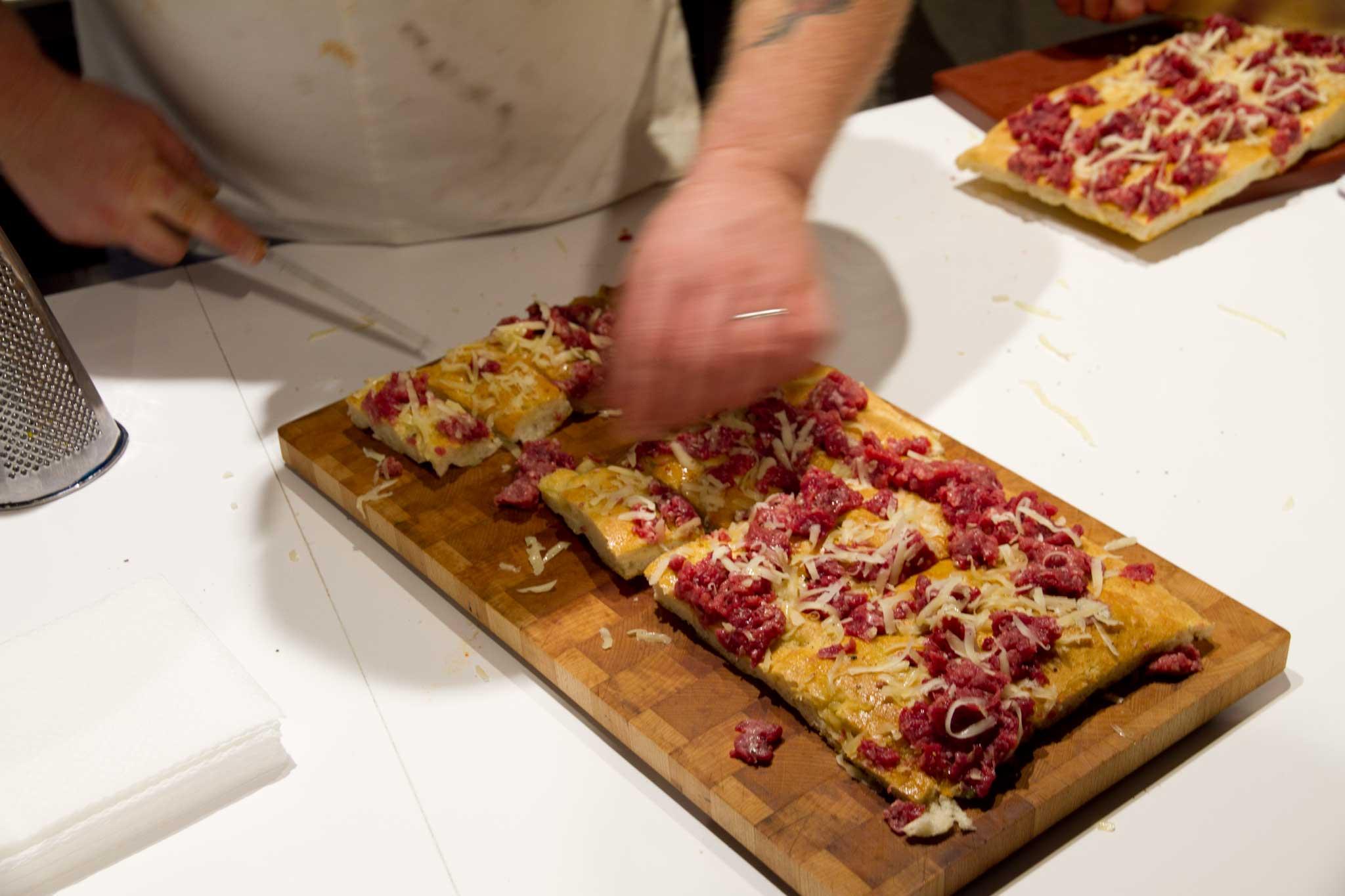 Bonci pizza crudo carne