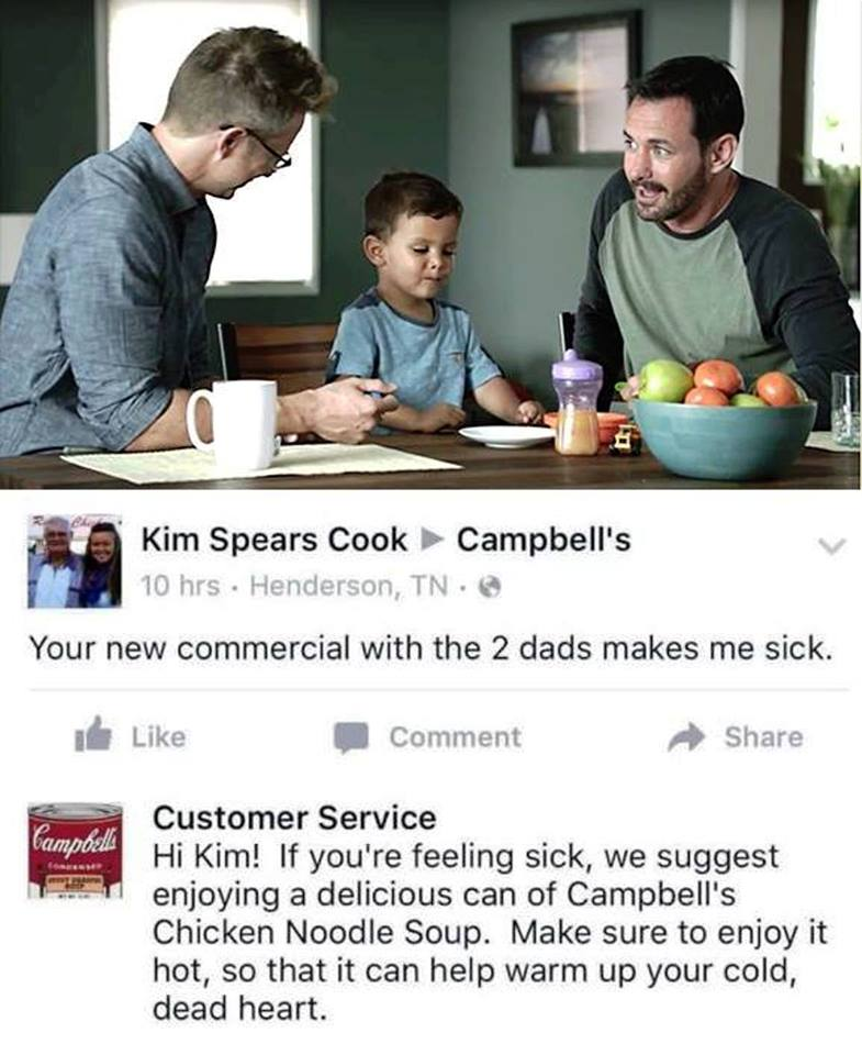 Campbell's risponde spot due padri