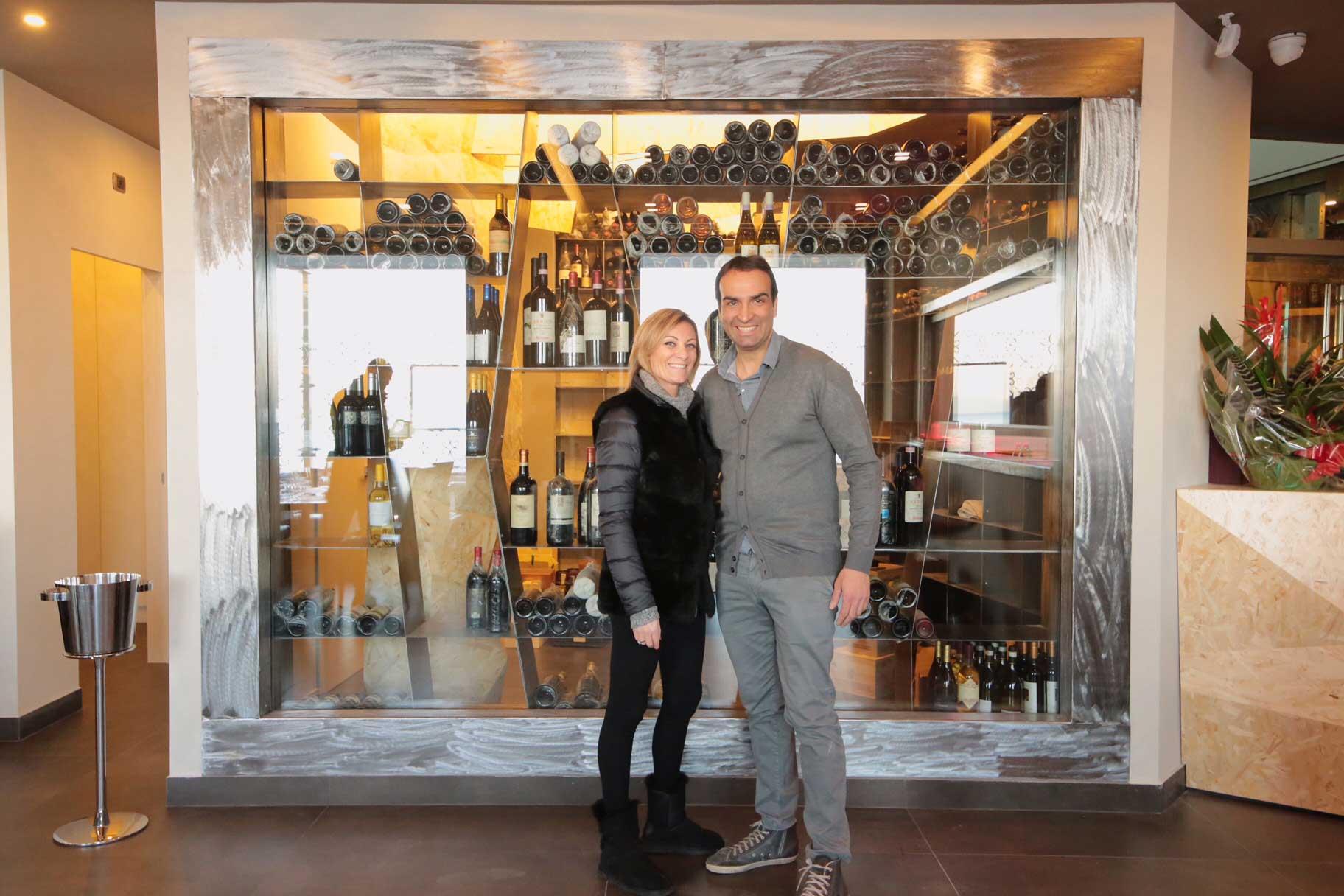 Edoardo Trotta Palazzo Petrucci e la moglie