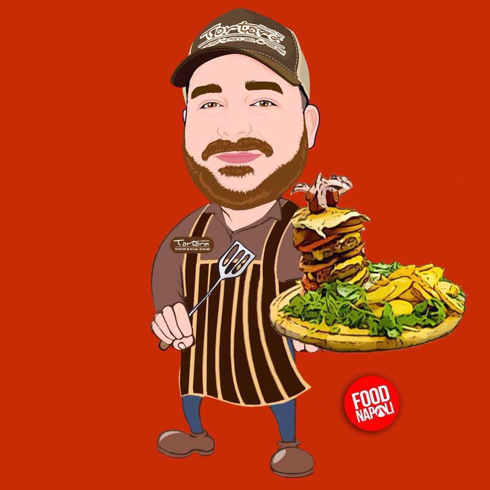 Mario Tortora hamburger panini Napoli