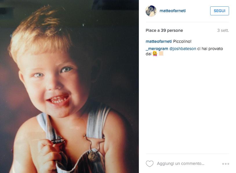 Matteo Farneti bambino Kinder