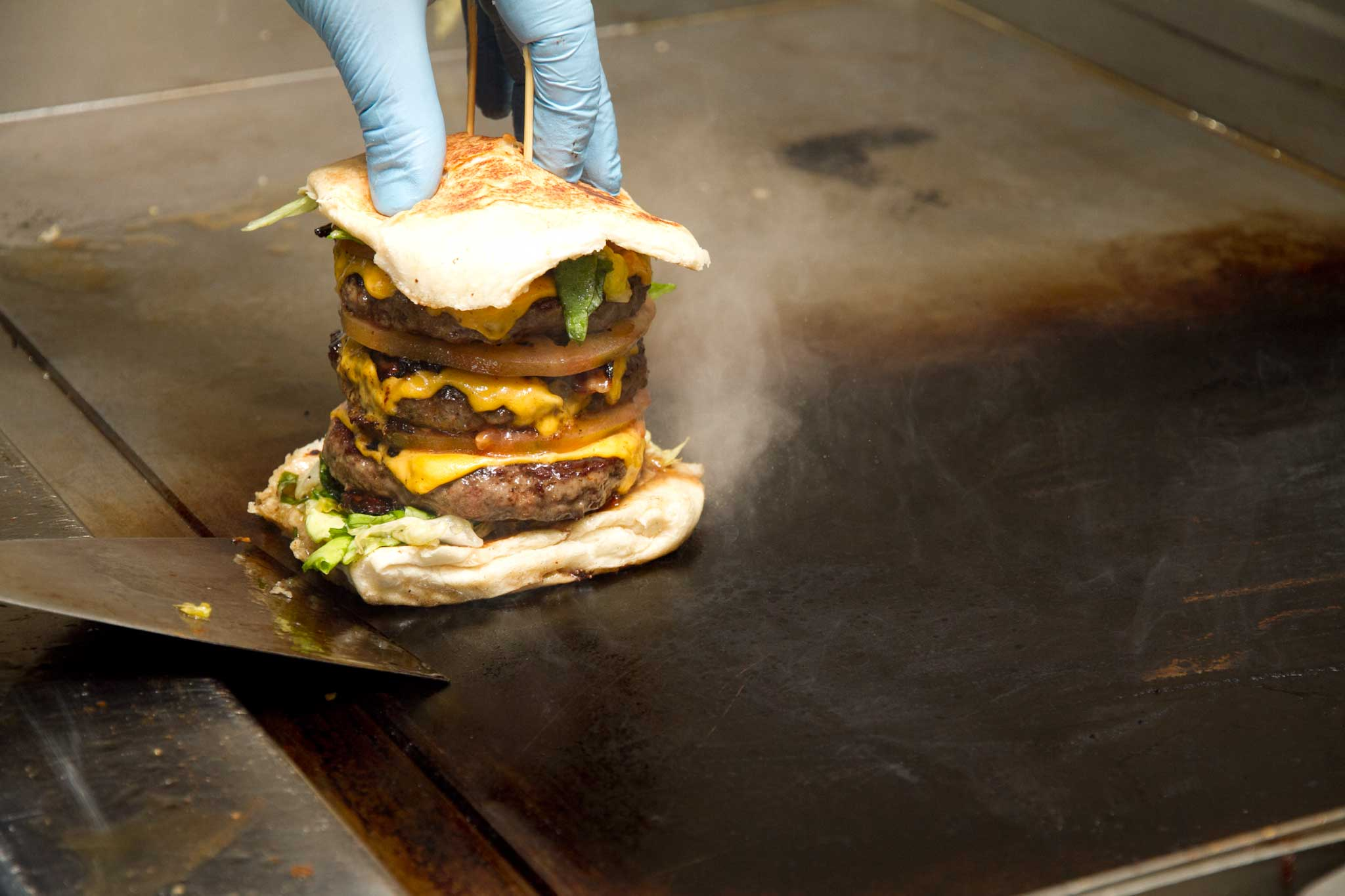 hamburger panino triplo