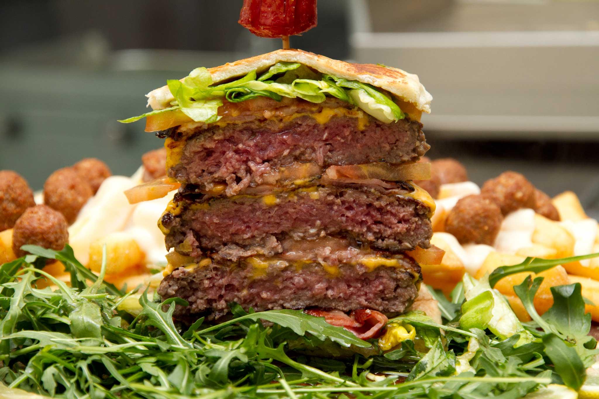 hamburger triplo sezione