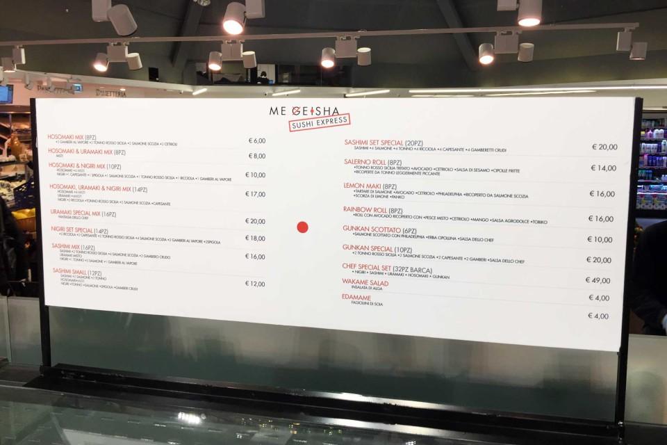 prezzi sushi Napoli Gourmeet