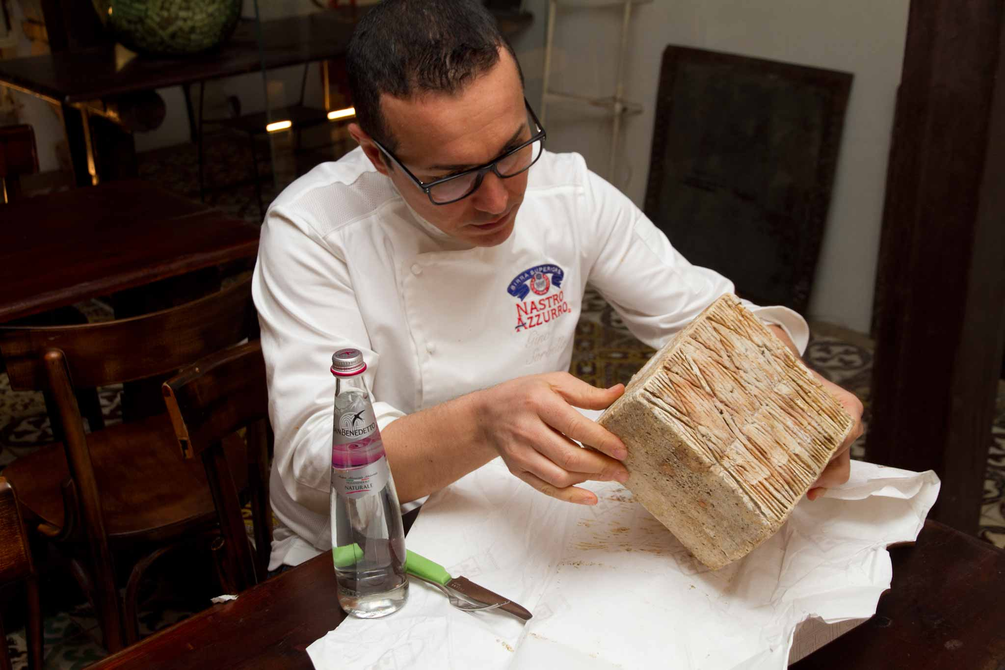 Gino Sorbillo e il formaggio