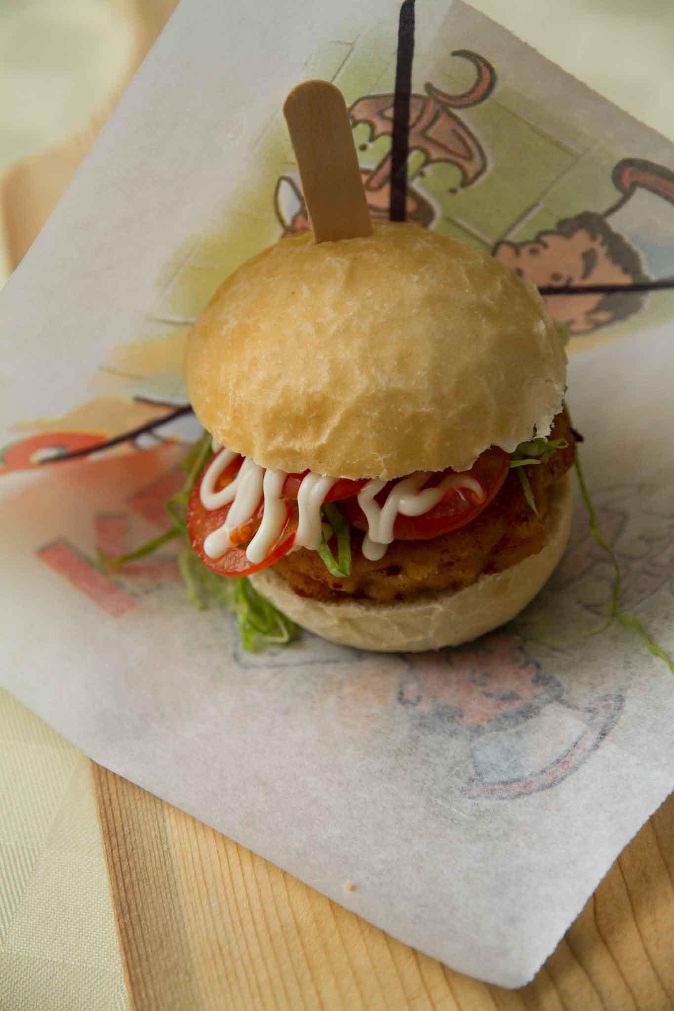 hamburger pomodori cotoletta calamaro
