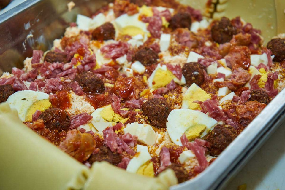 lasagna napoletana farcitura