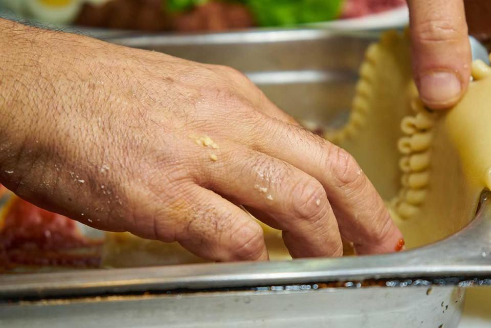 lasagna ricetta stesura pasta